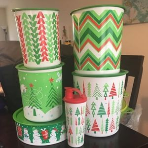 Tupperware Christmas Canister
